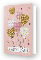 Diamond Dotz Greeting Card Love Balloons - Needleart World