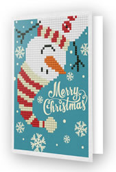 Diamond Dotz Greeting Card Merry Christmas Snowman - Needleart World