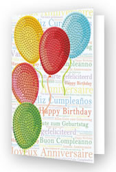 Diamond Dotz Greeting Card Balloons on High - Needleart World