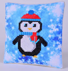 Diamond Dotz Christmas Penguin Kussentje - Needleart World