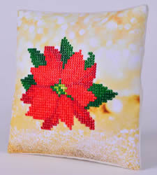Diamond Dotz Poinsettia Kussentje - Needleart World