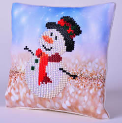 Diamond Dotz Snowman Top Hat Kussentje - Needleart World
