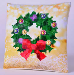 Diamond Dotz Christmas Wreath Kussentje - Needleart World