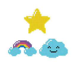 Diamond Dotz Dotzies 3 Stickers Multi Pack - Sky - Needleart World