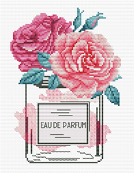 Voorbedrukt borduurpakket Rose Chic - Needleart World