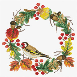 Voorbedrukt borduurpakket Autumn Wreath - Needleart World