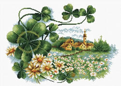 Voorbedrukt borduurpakket Scenery Clover - Needleart World