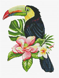 Voorbedrukt borduurpakket Toucan look out - Needleart World