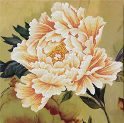 Voorbedrukt borduurpakket Blooming Peony2 - Needleart World