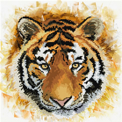 Voorbedrukt borduurpakket Tiger charge - Needleart World