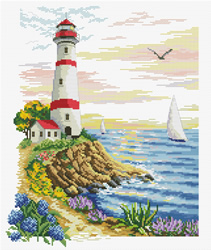 Voorbedrukt borduurpakket Lighthouse Cape - Needleart World
