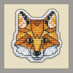 Borduurpakket Badge Fox - Oven