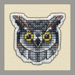 Borduurpakket Badge Owl - Oven
