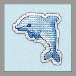 Borduurpakket Badge Dolphin - Oven