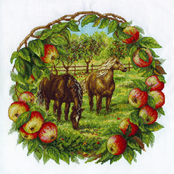 Borduurpakket Apples and Horses - PANNA