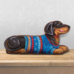 Borduurpakket Dachshund (Cushion Front) - PANNA