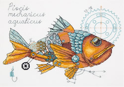 Borduurpakket Clockwork Fish - PANNA