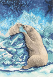 Borduurpakket Polar Bears - PANNA