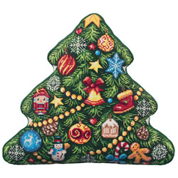 Borduurpakket Christmas Tree (Cushion Front) - PANNA