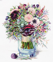 Borduurpakket Bouquet with Anemones - PANNA