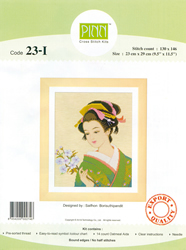 Borduurpakket Japanese Beauty Flowers in Hand - Pinn