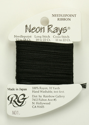 Neon Rays Black - Rainbow Gallery