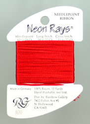 Neon Rays Red - Rainbow Gallery