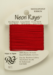 Neon Rays Crimson - Rainbow Gallery