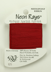 Neon Rays Brick Red - Rainbow Gallery