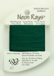 Neon Rays Forest Green - Rainbow Gallery