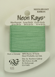 Neon Rays Pale Green - Rainbow Gallery