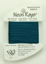 Neon Rays Dark Teal - Rainbow Gallery