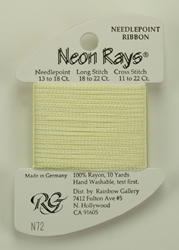 Neon Rays Pale Yellow - Rainbow Gallery