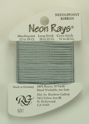 Neon Rays Silver - Rainbow Gallery