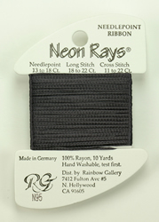 Neon Rays Dark Gray - Rainbow Gallery