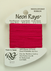 Neon Rays Rose - Rainbow Gallery