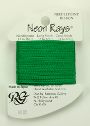 Neon Rays Christmas Green - Rainbow Gallery
