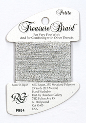 Petite Treasure Braid Silver - Rainbow Gallery
