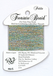 Petite Treasure Braid Confetti Blue - Rainbow Gallery