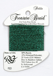 Petite Treasure Braid Dark Green - Rainbow Gallery