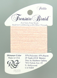 Petite Treasure Braid Pink Carnation - Rainbow Gallery