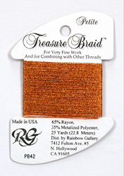 Petite Treasure Braid Autumn Orange - Rainbow Gallery