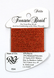 Petite Treasure Braid Autumn Red - Rainbow Gallery