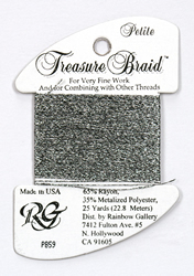 Petite Treasure Braid Black Silver - Rainbow Gallery