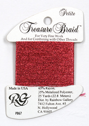 Petite Treasure Braid Raspberry - Rainbow Gallery