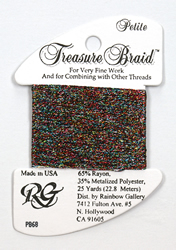 Petite Treasure Braid Black Opal - Rainbow Gallery