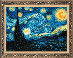 Borduurpakket Starry Night - RIOLIS