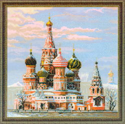 Borduurpakket Moscow. St. Basil's Cathedral - RIOLIS