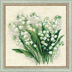 Borduurpakket Lilly of the Valley - RIOLIS