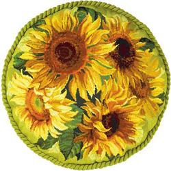 Borduurpakket Sunflowers Cushion - RIOLIS